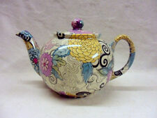 Retro woodstock design 2 cup teapot on special offer by Heron Cross Pottery