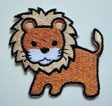 Cute Pretty Brown Lion Cartoon For Kids Embroidered Iron on Patch Free Shipping
