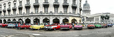 "Marilyn Fils Photo, ""Vintage Car, Classic Chrome Panorama"" Havana, Cuba 6x18"""