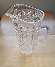 Gorgeous Vintage Authentic German Cut Lead Crystal 24% PbO Glass Serving Pitcher