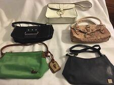 Lot Of 5 Designer Handbag Purses Dooney & Bourke,Franklin Covey,Guess,Liz