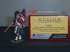 BRITAINS 10019 BLACKWATCH REGIMENT COLOUR PARTY ENSIGN METAL TOY SOLDIER FIGURE