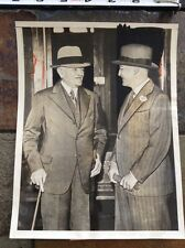 1938 General John Pershing Commander of US Army Forces in WW1 greeted in France