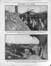 Poilus Tranchées Bataille de l'Artois Eperon Notre-Dame-de-Lorette  War 1915 WWI