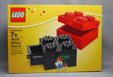 LEGO BUIDABLE TOY BRICK STORAGE BOX 2x2 *SET 40118* NEW *W/ PAINTER MINIFIGURE*