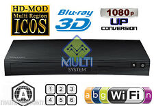 Samsung BD-J5900 ZONE A - All Region Code Free DVD Blu-ray Disc Player Wi-Fi 3D