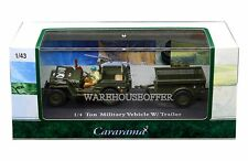 CARARAMA 1:43 1/4 TON MILITARY VEHICLE WITH TRAILER DIECAST CAR 14901