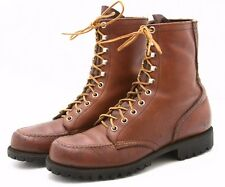 Red Wing Mens Work Boots 6.5 B Leather moc toe Logger logging Vintage 1960's 70s