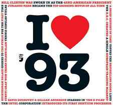 23rd Birthday Gift - I Love 1993 Compilation CD Greetings Card - CD Card Company