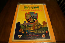 Michigan Road Atlas Fishing and Hunting Guide 1950s By SOCONY OIL Very Cool