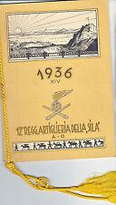 calendario coloniale  1 artiglieria Sila 1936