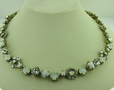 Sorrelli Pearl Luster Necklace NBE2AGPLU Antique gold  tone