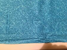 """Whirl by Marshall Dry Goods Turquoise 108"""" quilt backing 3 Yards"""
