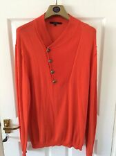 "Gucci Mens Lapel Red/Orange Sweater / Jumper 38-42"" Chest - Buy Now £75 OVNO"