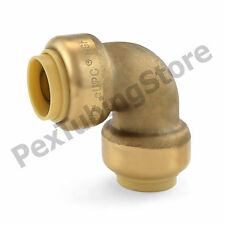 """1/2"""" Sharkbite Style (Push-Fit) Push to Connect Lead-Free Brass Elbow Fitting"""