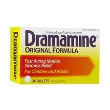Dramamine Original Formula Tablets Motion Sickness 36 Tablets