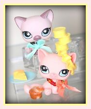 ❤️Littlest Pet Shop LPS Sitting Cats #664 #959 ~ Tao & Fortune Accessories LOT❤️