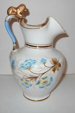 Vintage Bing & Grondahl Porcelain Pitcher with Lion Handle and Floral Designs