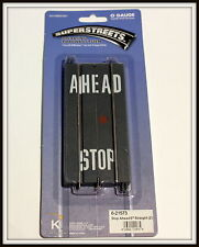 K-Line /Lionel Superstreets O Scale Stop Ahead Roadways -Set of 2 #6-21573 *New*