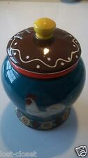 LTD Commodities Sugar Coffee Canister White Rooster Chicken Jar Crock @ cLOSeT