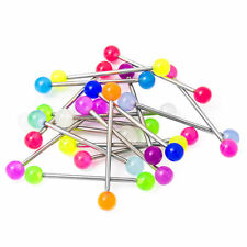 Lot of 20pc Glow Scaffold Earring Industrial Barbells 7 Colors 38mm 14g