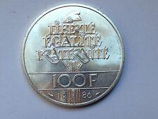 trés belle monnaie 100frs argent Liberté 1986 TTB/SUP