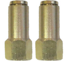 "Air Suspension System 2 Brass Fittings 3/8""NPT Female to 3/8"" Air Hose Push In"