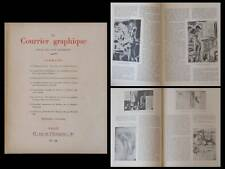 LE COURRIER GRAPHIQUE n°32 1947 GUS BOFA, PIERRE LOUYS, OCCUPATION, TYPOGRAPHIE