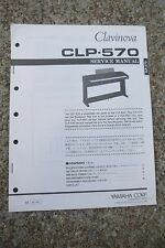 Yamaha Clavinova CLP-570 Service Manual and schematics