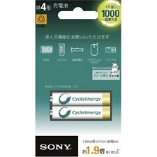 New SONY NH-AAA-2BKB 2P Cycle Energy Gold Rechargeable AAA size Battery 2P Japan
