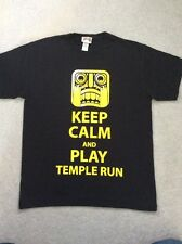 Black TEMPLE RUN T-SHIRT TOP age 11-12 years VGC
