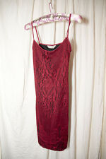 Stretchy Sleeveless Red & Black Sparkly Lacey Miss Selfridge Short Dress Size 10