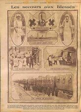 Yacht Ambulance Secours Train Blessés Oeuvres Croix Rouge Red Cross WWI 1914