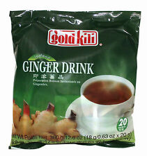 1 Pack of Gold Kili Instant Chinese Ginger Tea Drink 20x18g Sachets