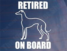 RETIRED GREYHOUND ON BOARD Car/Van/Window Vinyl Sticker/Decal for Dog Owners