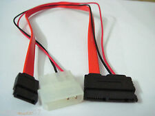 New Micro SATA to SATA & LP4 Male Power Adapter Cable