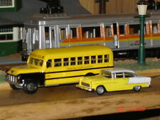 Rare HO Scale Diecast 1956 Chevy School Bus, Nicely Detailed