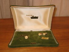 VINTAGE JEWELS BY ASTOR 3 PC SET - HAND CARVED SCREW EARRINGS & NECKLACE