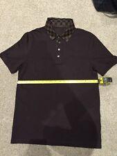 Homme Louis Vuitton damier ébène à manches courtes Polo Shirt Taille M RARE 9.9/10