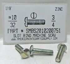 10-32x3/4 Binding Head Slotted Machine Screws Steel Zinc Plated (50)