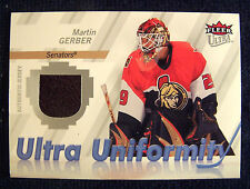 2007-08 Ultra Uniformity #UMG Martin Gerber Jersey Senators Hurricane Ducks