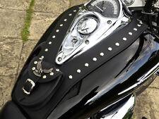 (Rs) HONDA SHADOW VTX 1300 LEATHER TANK Panel, Cover Pad Strap, Chap Bra Bib