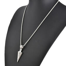 Men's Silver/Gold Punk Steel Sword Pendant Chain Necklace Fashion Jewelry Gift
