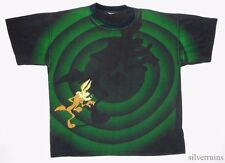 WILE E COYOTE Vintage T Shirt 90's ALLOVER PRINT Cartoon TV POP CULTURE