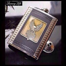 Harley Davidson,8 oz stainless steel hip flask,Hip Liquor Whiskey Alcohol Pocket