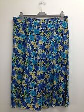 Ellie Louise - Blue Mix Floral 8 Panel Gore Skirt Size Uk 18 (O940) BNWT