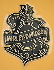 "Vintage Harley Davidson *INSIDE * Large Oak Leaf Decal 6.25"" x 4.25"" Qty. 2"