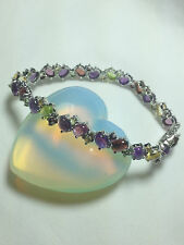 Bracelet - Multicolor Gemstone Bracelet in Sterling Silver