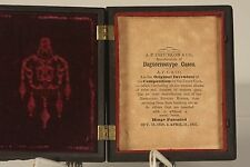 Beautiful Ambrotype Three Children Hard Union Case by Critchlow & Co. circa 1857