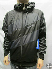 SUPREMEBEING WINDBREAKER BLK JACKET LIGHT WEIGHT URBAN HOODED TOP SIZE M RRP £70